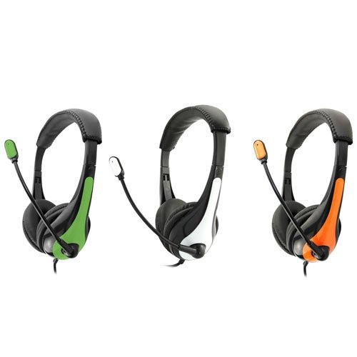 AE-36Orange 3.5mm Headset - Orange, It has a 6 Cord. By Avid Ship from US