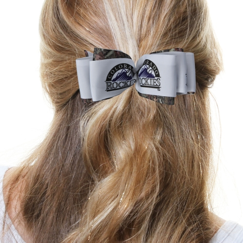 Colorado Rockies Women's Mary Loop with Mossy Oak Hair Bow - No Size