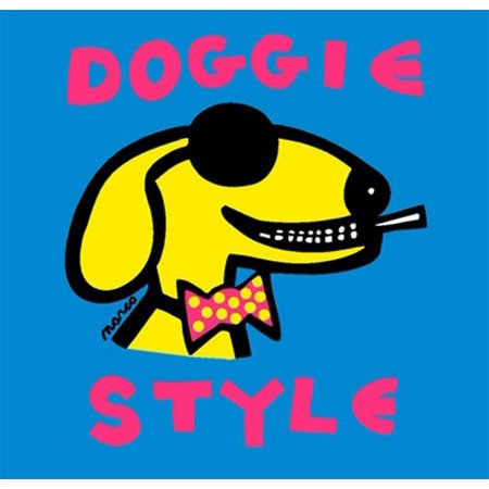 Doggie Style (Blue small) Poster Print by Peter Marco (8 x 8 ...
