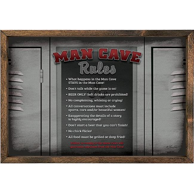 Forest Creations AP75 Art Print - Man Cave Rules