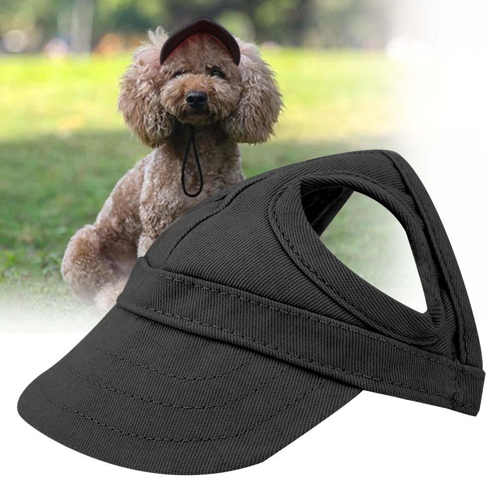 Qiterr Cute Pet Dog Cat Baseball Outdoor Cap Sunbonnet Adjustable Stripe Summer Travel Sport Hat