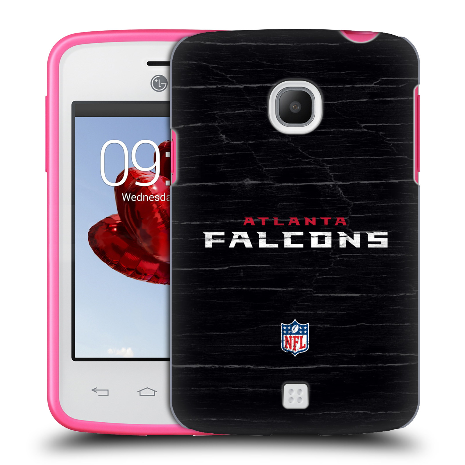 OFFICIAL NFL ATLANTA FALCONS LOGO HARD BACK CASE FOR LG PHONES 2