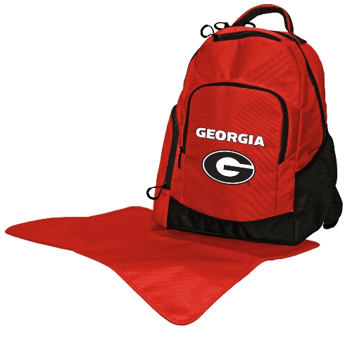 NCAA Diaper Bag by Lil Fan, Backpack Style - Georgia Bulldogs