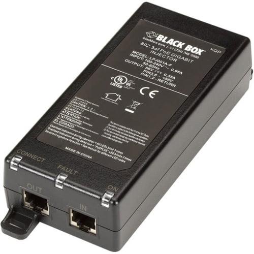 Black Box 802.3af Poe Gigabit Injector, 1-port - 120 V Ac, 230 V Ac Input - 56 V Dc Output - 19.60 W (lpj001a-f)