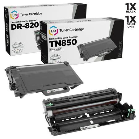 LD Compatible Brother TN850 / DR820 Toner & Drum Unit Set of 2 for DCP-L5500DN, DCP-L5600DN, DCP-L5650DN, HL-L5000D, HL-L5100DN, HL-L5200DW, HL-L5200DWT, HL-L6200DW, MFC-L5850DW, MFC-L5900DW Color Toner Imaging Drum