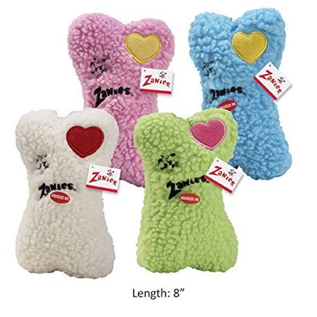 EMBROIDERED BERBER BONES Quality Made Soft Bone Squeaker Toys for Dogs Dog Toy