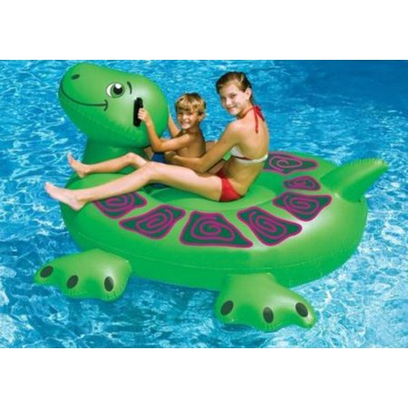 """75"""" Water Sports Inflatable Swimming Pool Giant Sea Turtle Ride-On Raft"""