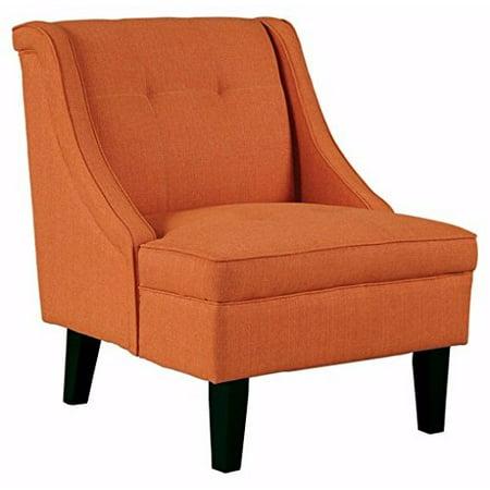 Ashley Furniture Signature Design -Clarinda Accent Chair - Wingback - Modern - Orange ()