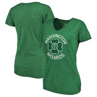 Washington Wizards Fanatics Branded Women's St. Patrick's Day Luck Tradition Tri-Blend V-Neck T-Shirt - Green