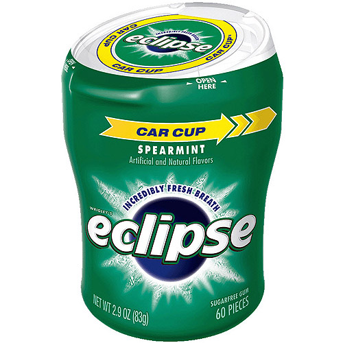 Eclipse Spearmint Sugarfree Gum, 60 piece bottle