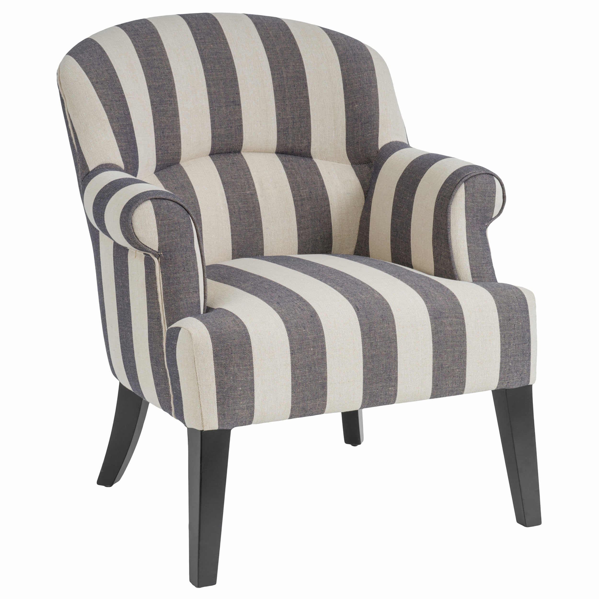 Abigale Blue Stripe Fabric Club Chair by GDF Studio