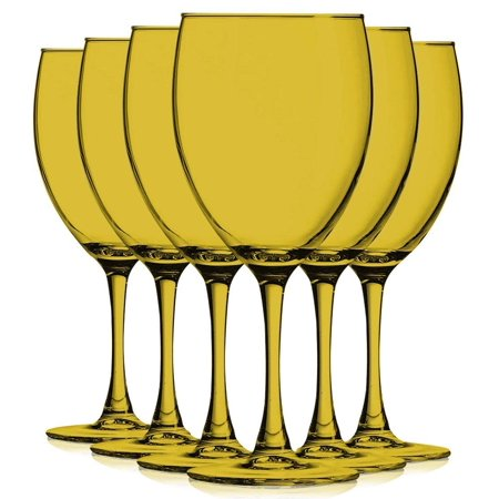 Amber Colored Nuance Wine Glassware - 10 oz. set of 6- Additional Vibrant Colors Available by TableTop