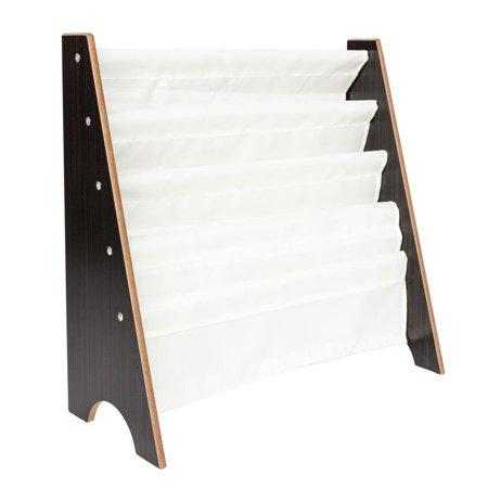 Ktaxon Wood Kids Book Shelf Sling Storage Rack Organizer Bookcase Display Holder - Newspaper Display Holder