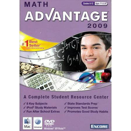 Math Advantage 2009  (A Complete Student Resource Center) Study Skills Math Curriculum DVD Homeschool Grades 6-12~Age 11