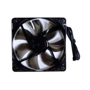Apevia CF12SL-T4C 120mm Multi-color LED Fan with 3-pin & 4-pin Connectors and Black Grill