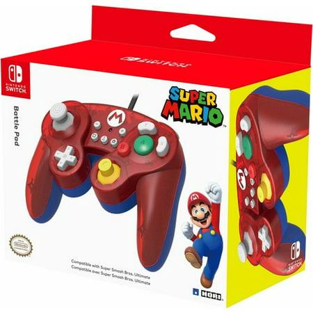 Metal Gamecube Pad - HORI, Battle Pad Wired Controller, Nintendo Switch, Red, NSW-107U