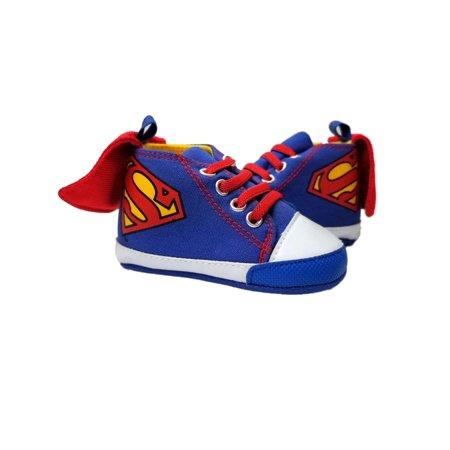 DC - DC Infant Boys Blue High Top Superman Cape Slippers Baby Crib Shoes -  Walmart.com 636f800dbbe