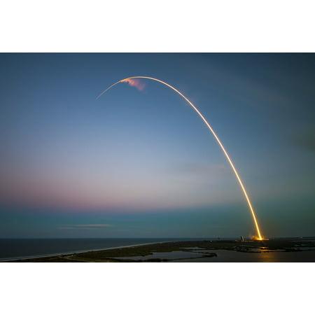 Canvas Print Cape Canaveral Rocket Rocket Launch Ses 9 Launch Stretched Canvas 10 x (Cape Canaveral Rocket)
