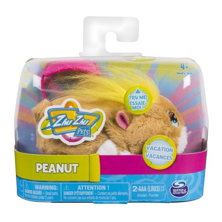 "Zhu Zhu Pets - Vacation Peanut 4"" Hamster Toy with Sound and Movement"