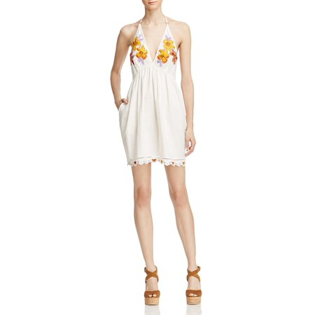 Free People Womens T Back Embroidered Sundress
