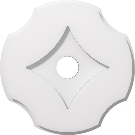 Ekena Millwork CMP12PL-02000 12 in. OD x 2 in. ID Square Percival Architectural Grade PVC Contemporary Ceiling Medallion - image 1 de 1