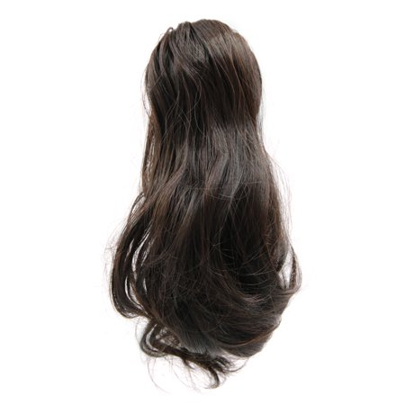 (Synthetic Drawstring Wavy Curly Ponytail Hairpiece for Women #4)