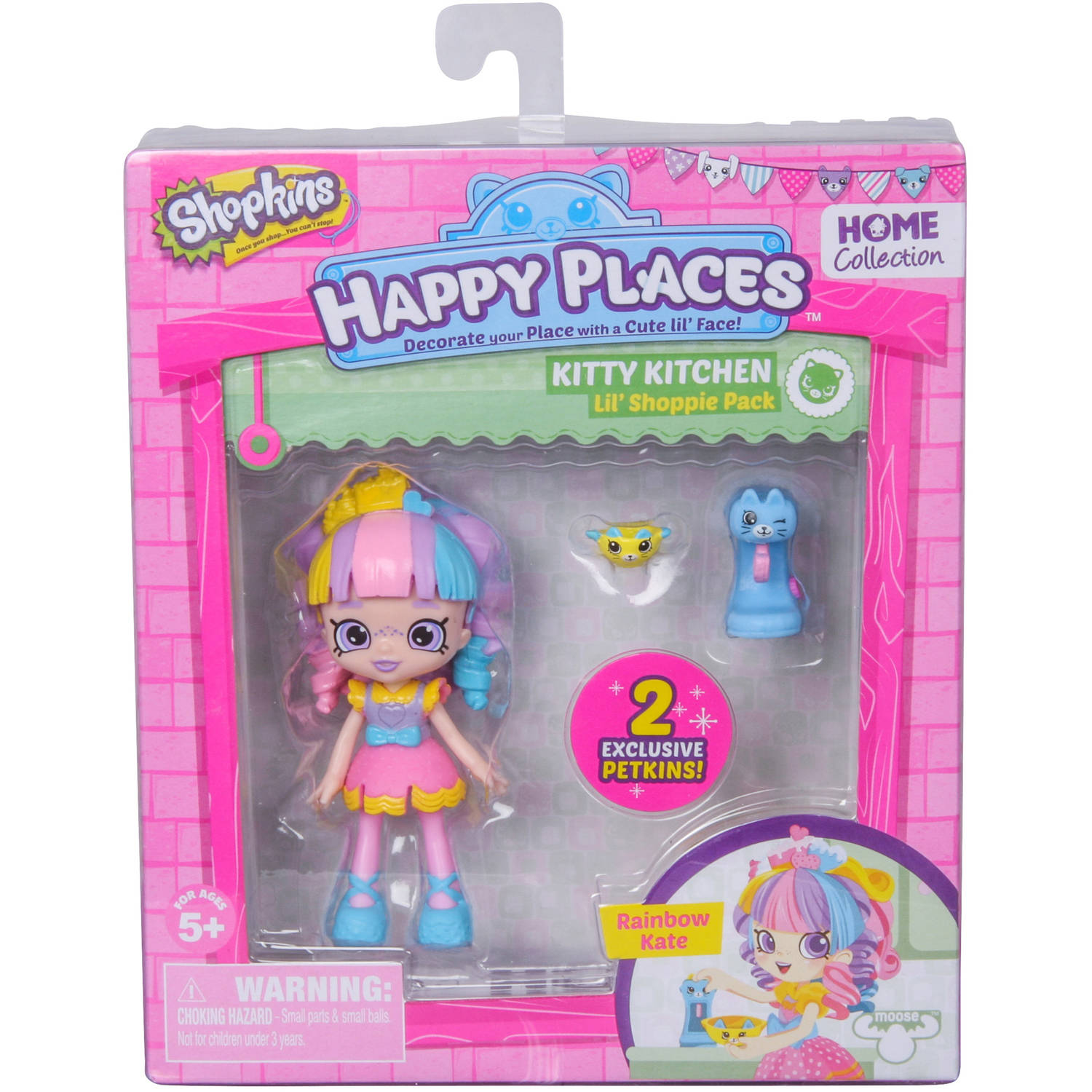 Shopkins Happy Places Doll Single Pack, Rainbow Kate