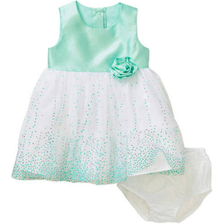 a3e5e1aea George - Mint Ballerina Dot Dress - Walmart.com