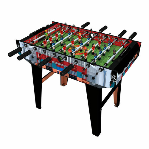Minigols Manchester United Foosball Table with 11 Man United Figures and 11 Real Madrid Figures