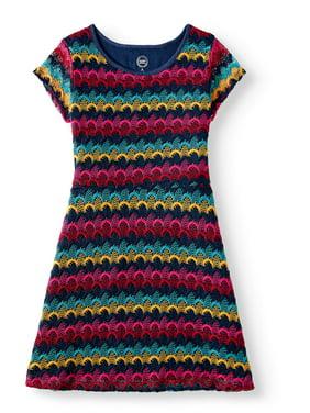 fd0014a2580 Product Image Wonder Nation Cap Sleeve Knit Dress (Little Girls , Big Girls  & Big Girls Plus