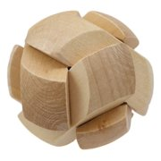 "Ebros Frank Lloyd Wright Soccer Ball 3D Block Mini Puzzle 2.75"" Height Wooden Puzzles Brain Exercise Intelligence Logic Educational Problem Solving Wood Toy"