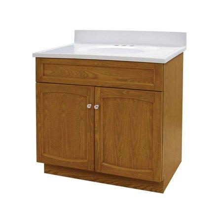Foremost Heartland 30 In Single Bathroom Vanity With Optional Medicine Cabinet Oak