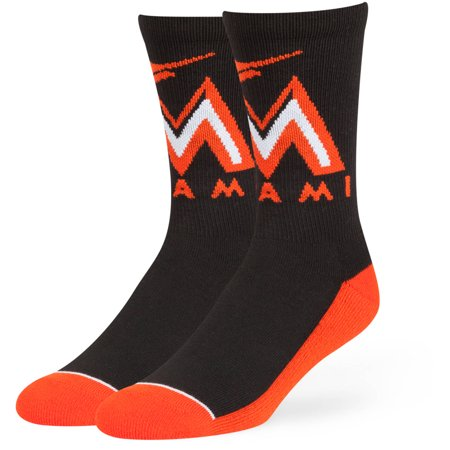 MLB Miami Marlins Arena Crew Socks - Fan (Florida Marlins Socks)