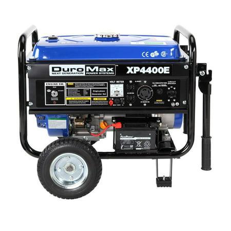 - DuroMax XP4400E 4400 Watt 7 Hp 8 Hour RV Grade Gas Generator w/ Electric Start