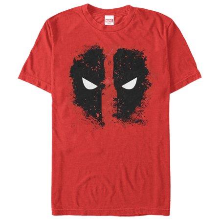Marvel Men's Deadpool Reverse Mask Splatter T-Shirt - Deadpool Without The Mask
