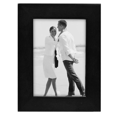 3x5 Picture Frame LINEAR - Black Wood