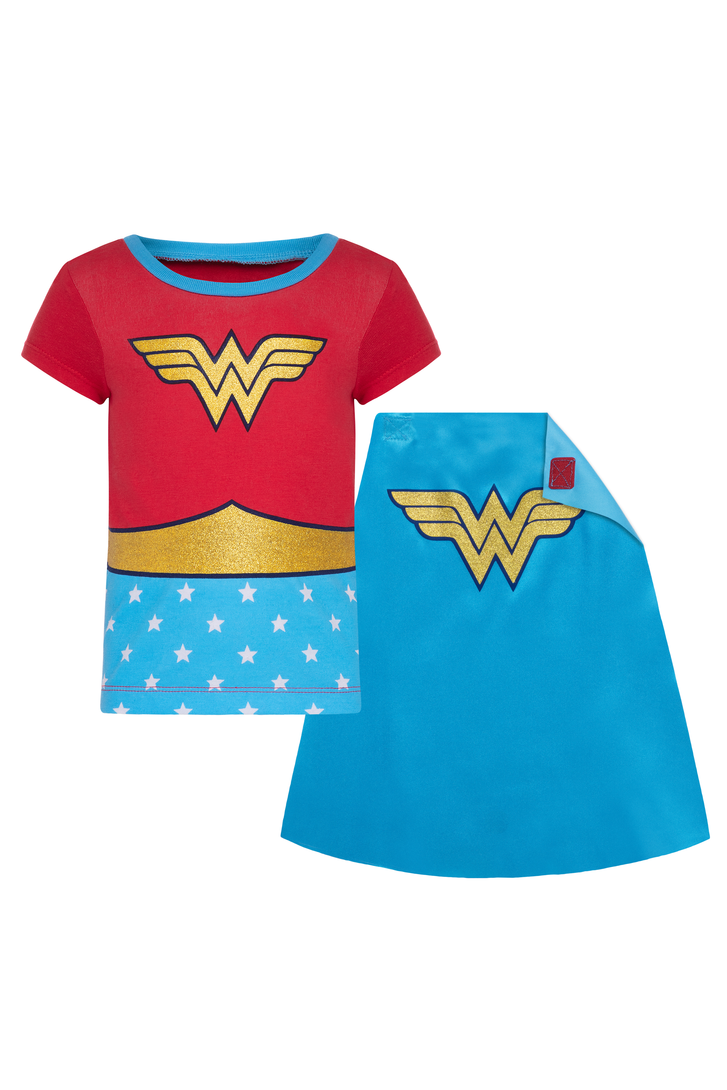 Wonder Woman Girls Americana Top and Scooter 2-Piece Outfit Set