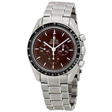 omega men's 311.30.42.30.13.001 speedmaster brown dial watch