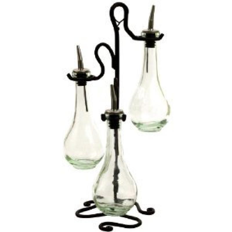 Chic Olive Oil & Vinegar Kitchen Dispenser Decorative Bot...