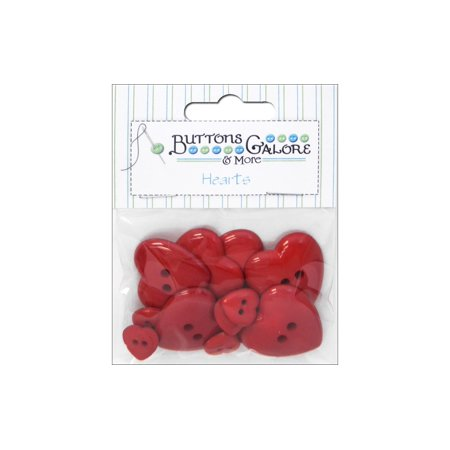 Themed Craft Buttons (Buttons Galore Theme Button Red Hearts)