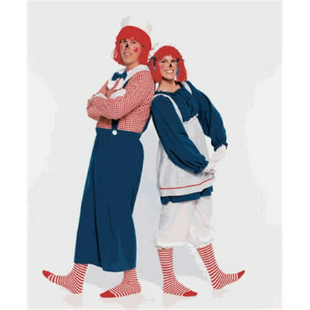 Secrets a Division of J Nunley SAM-17XL Raggedy Andy-XL Jumpsuit  Hat with Wig  Stockings - Raggedy Ann Hat