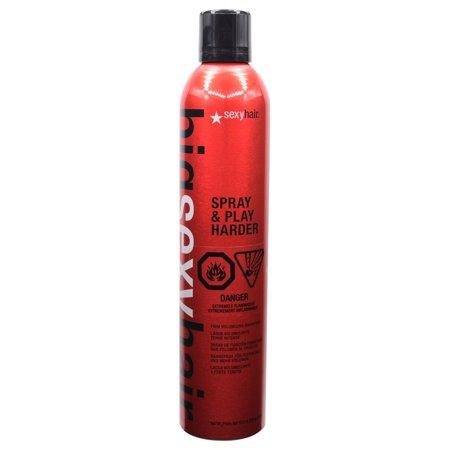 Big Sexy Hair Spray & Play Harder, Firm Volumizing Hairspray 10 oz - Black Hair Spray Wash Out