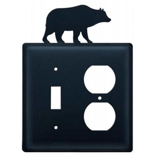 Village Wrought Iron ESO-14 Bear - Single Switch and Outlet Cover