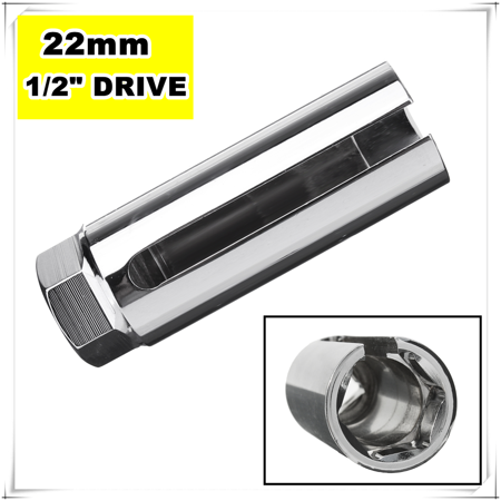 """Lambda Oxygen O2 Sensor spare parts Socket Removal Tool Side Wire Cutout 1/2"""" Drive 22mm"""