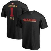 San Francisco 49ers NFL Pro Line by Fanatics Branded #1 Dad T-Shirt - Black