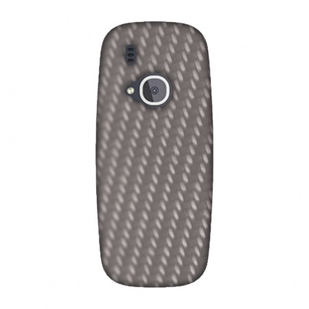 S15 Carbon (Nokia 3310 Case, Premium Handcrafted Designer Hard Shell Snap On Case Printed Back Cover with Screen Cleaning Kit for Nokia 3310, Slim, Protective - Carbon Fibre Redux Stone Gray)