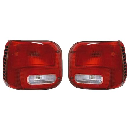 NEW PAIR OF TAIL LIGHTS FITS DODGE B150 B250 B350 1994 RAM 3500 VAN 96-97 CH2800142 CH2801142 4882684 4882685