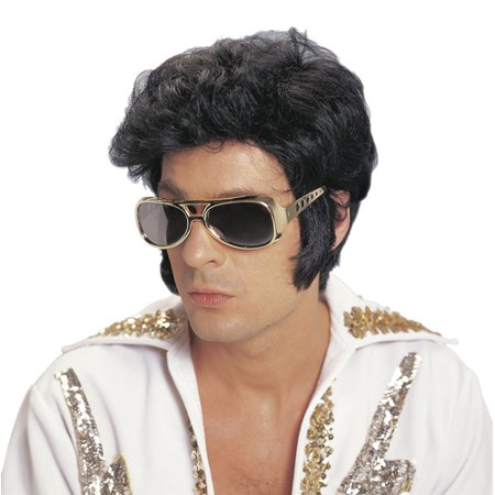 Deluxe Rock N' Roll Elvis Presley Costume Accessory Wig](Mens Wigs For Sale)