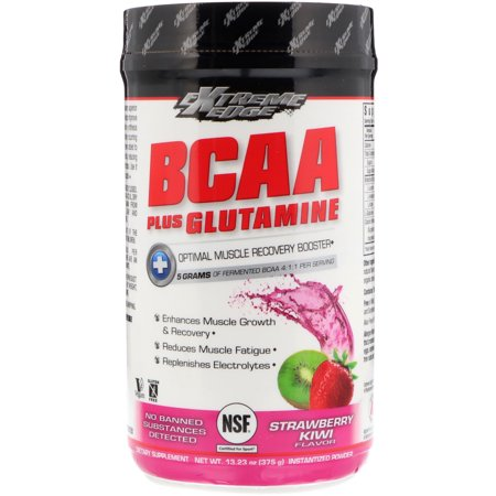 Bluebonnet Nutrition  Extreme Edge BCAA Plus Glutamine  Strawberry Kiwi Flavor  13 23 oz  375 g (G Fuel Flavors)