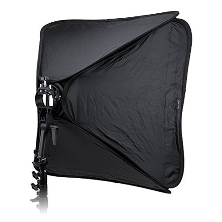 Strobe Flash Softbox Light (Fotodiox Pro Foldable Softbox 32x32in (80x80cm) with Flash Bracket for Speedlights and Bowen Mount Strobes)